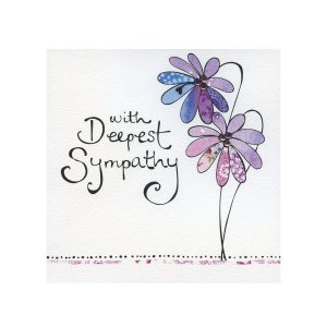 Memoria - Purple Flower Symphaty Card