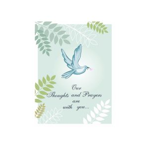 Memoria - Prayers Sympathy Card